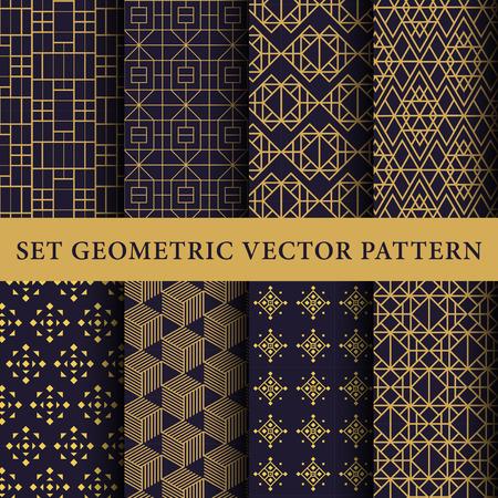 geometricos: Patrones de lujo paquete Vectores