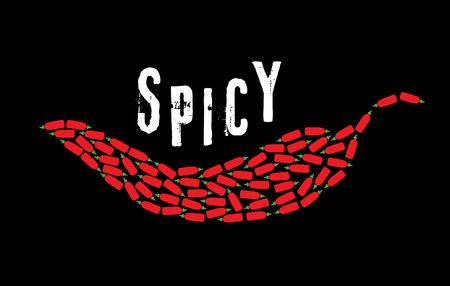 group of spicy hot chili sauce vector