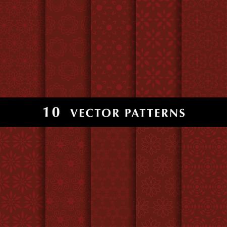 Luxury vector patterns pack Stock Illustratie