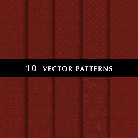 Luxury vector patterns pack Ilustrace