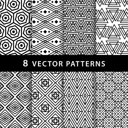 Geometric vector pattern pack Ilustrace