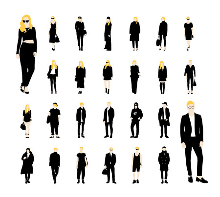 Set of people vector