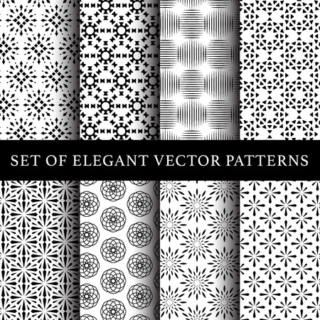 Set of abstract flower vector patterns