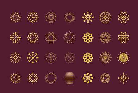 symbol: Set di simboli vettoriali fiore astratto