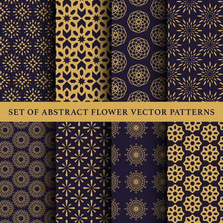 Set of abstract symbol vector pattern Illustration