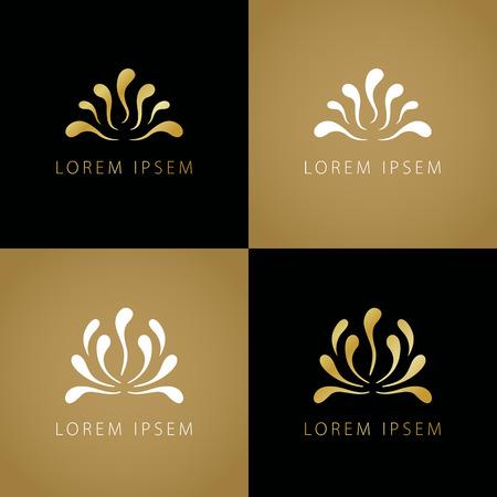 plant tree: Luxury logo vector