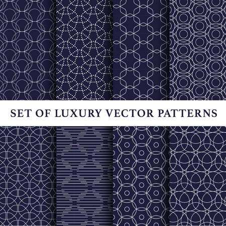 Asian luxury vector patterns pack Stock Illustratie
