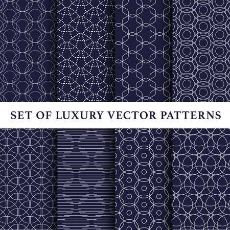 Asian luxury vector patterns pack Illustration