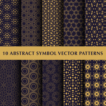 star pattern: Set of abstract symbol vector patterns Illustration
