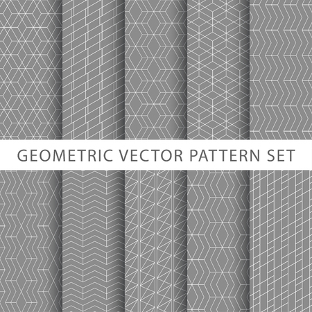 Geometric vector pattern set