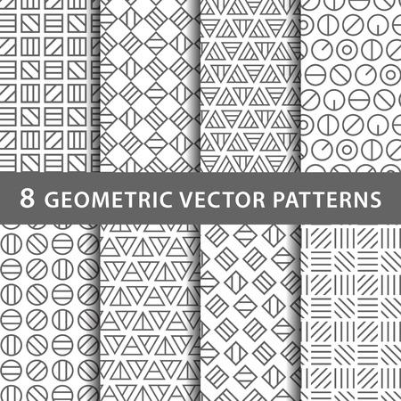 Geometric vector pattern pack Stock Illustratie