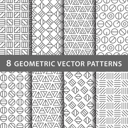 Geometric vector pattern pack Vettoriali