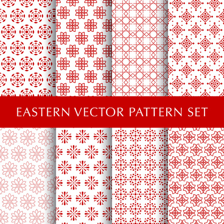 Set of eastern abstract symbol vector patterns Ilustrace