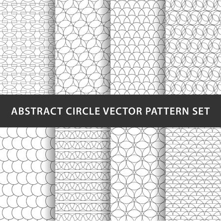 Geometric circle vector pattern pack