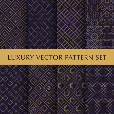 Luxury golden vector patterns pack Illustration