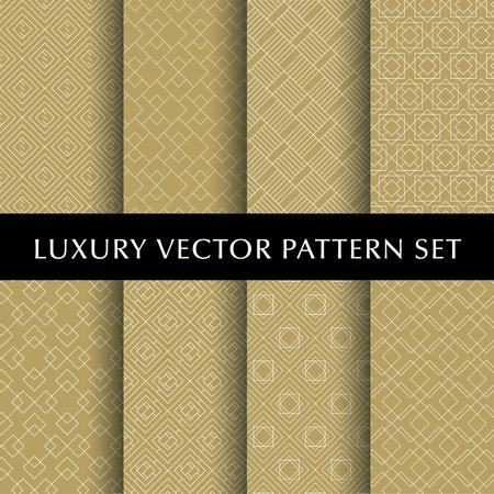 Luxury golden vector patterns pack Ilustrace
