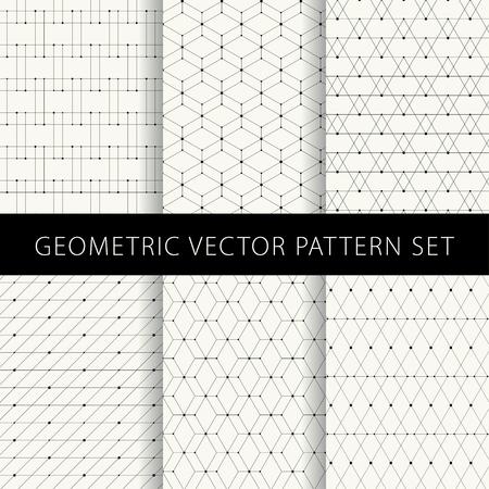Geometric vector pattern set