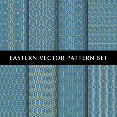 Eastern hexagon vector pattern pack