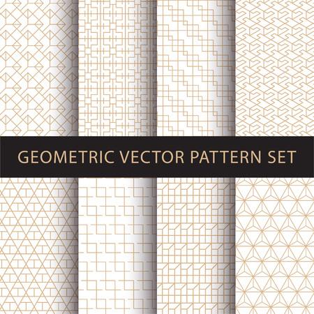 Geometric vector pattern pack Ilustrace