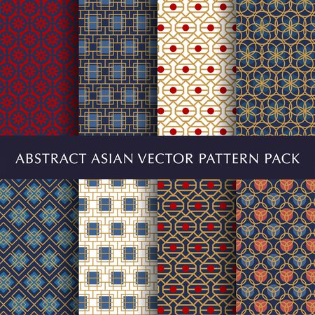 Asian abstract vector pattern pack