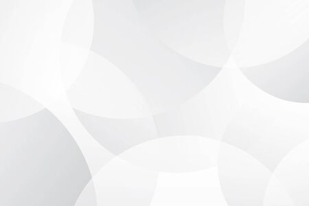 White and Grey abstract modern transparency circle presentation background Ilustrace