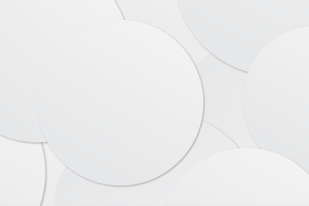 Abstract white circle paper background