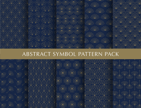 Set of abstract symbol vector patterns Ilustrace