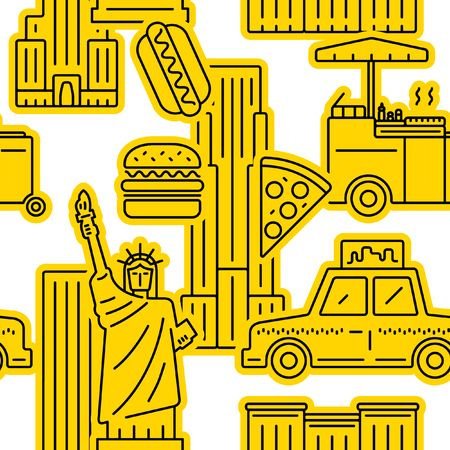New York City yellow pattern. Illustration