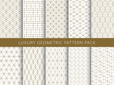 Luxury elegant geometric patterns pack.