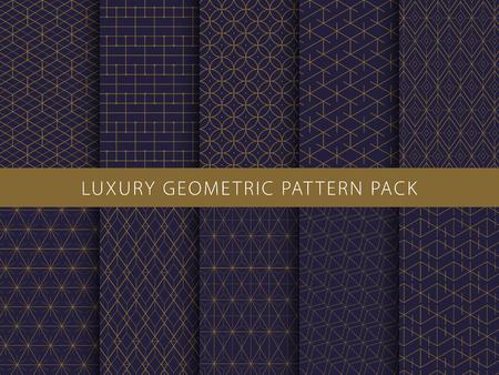 Luxury geometric vector patterns pack