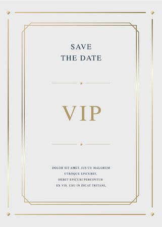 Luxury golden vector invitation card template Illustration