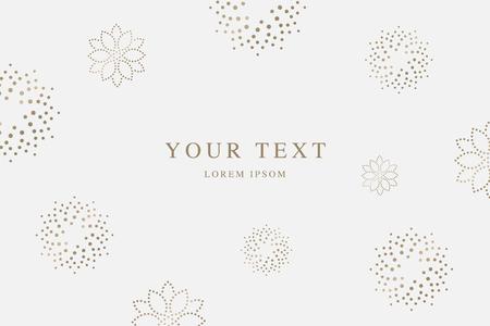 Luxury golden beauty vector background Ilustrace