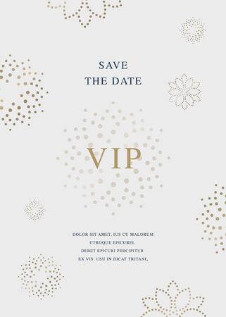 Luxury golden beauty vector invitation card template