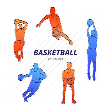 Basketball player, sport vector illustration