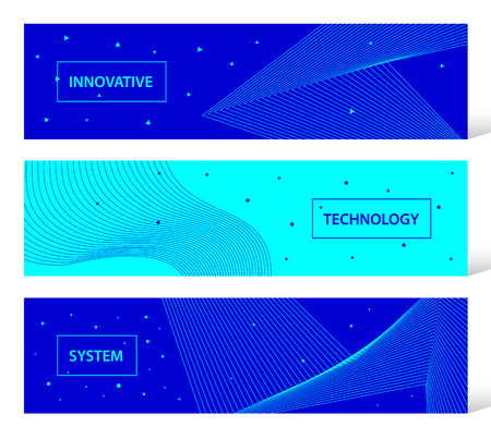 Abstract innovative technology vector banner set