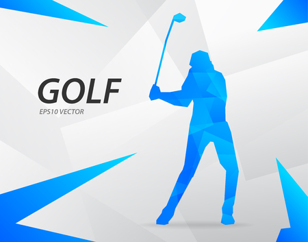 Blue modern vector graphic golf on abstract background