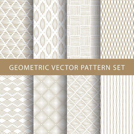Paquete de patrones vintage de vector de lujo