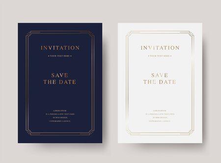 Vintage luxury vector invitation card Vecteurs