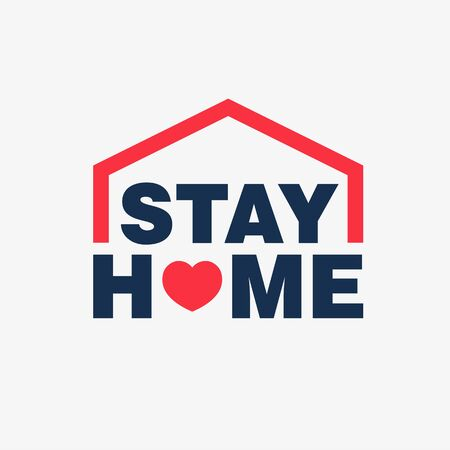 Stay home campaign logo concept