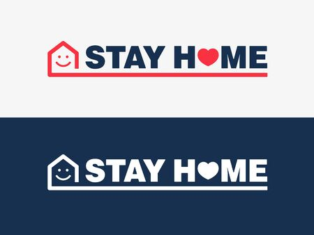 Stay home campaing logo concept