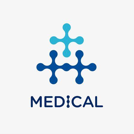 Medical and health conceptual vector logo