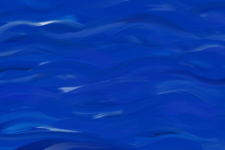 Blue abstract wave painting texure background