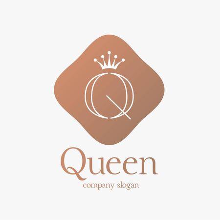 Logo design letter Q concept for luxury business