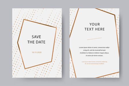 Trendy and modern white vector invitation card template