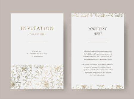 Vintage floral luxury vector invitation card template 矢量图像