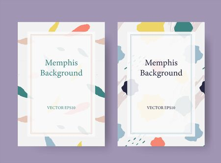 Memphis style vector card background template Ilustrace