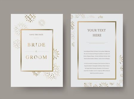 Vintage luxury wedding vector invitation card