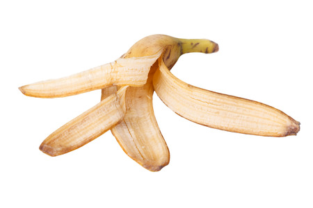 banana skin: the Banana skin on the white background