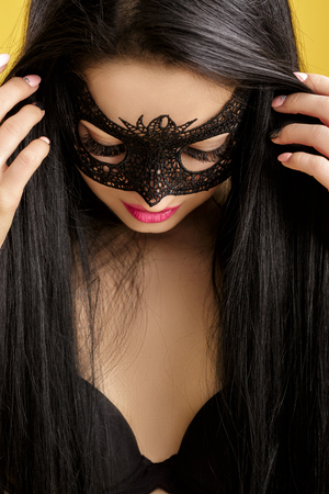 Sexy girl in mask