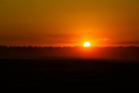 Beautiful sunset over the summer field Lizenzfreie Bilder